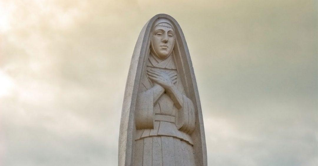 statue of Saint Monica
